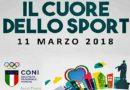 'Il cuore dello sport', in programma domenica 11 marzo dalle 10 alle 13 e dalle 15 alle 18 presso la Cittadella dello sport di via De Dominicis