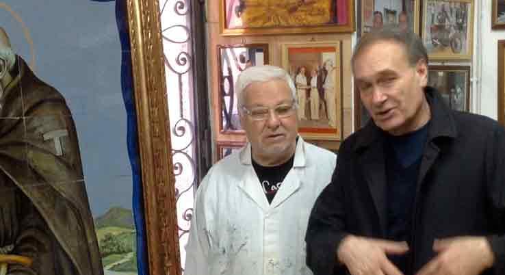 Presentato restauro opera Mario Riga a opera di Cordinavi