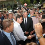 Il premier Giuseppe Conte si è recato ad Arquata del Tronto