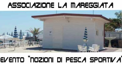 """Associazione La Mareggiata: ecco l'evento culturale sul tema """"Nozioni di pesca sportiva"""""""