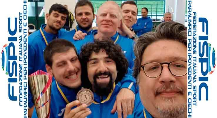 Goalball, terzo posto per gli azzurri in Polonia