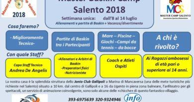 Master Camp Salento 2018