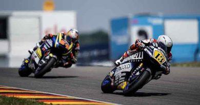 """Moto 2 Romano Fenati: """"Sono contento della gara perché, dopo le cadute e i ritiri delle ultime tappe,"""