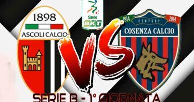 Ascoli Calcio 1898 fc - Cosenza Calcio Live Score