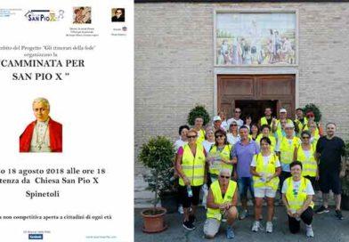 """Sabato 18 agosto la """"Camminata per San Pio X"""""""