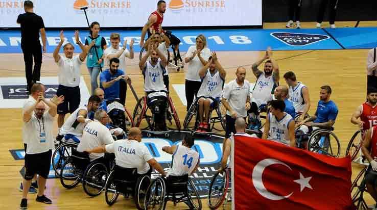 Campionati del Mondo basket in carrozzina IMPRESA ITALIA, LA TURCHIA VA K.O.