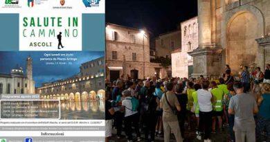 Lunedì 20 agosto settimo appuntamento con Salute in cammino Ascoli