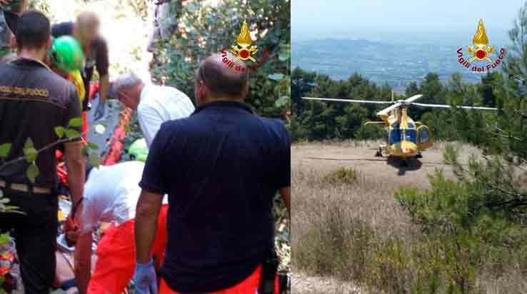 Vigili del Fuoco - Monte Conero, soccorso a persona
