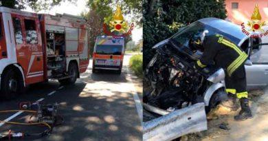 Vigili del Fuoco - Ostra, incidente stradale