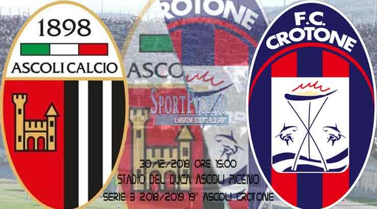 Serie B 19° giornata: Ascoli Crotone diretta live score