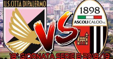 US CITTÀ DI PALERMO- ASCOLI CALCIO FC 1898 Live Score