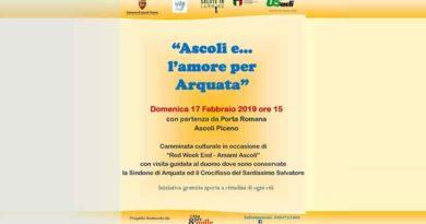 """Domenica 17 febbraio alle 15 """"Ascoli e… l'amore per Arquata"""""""