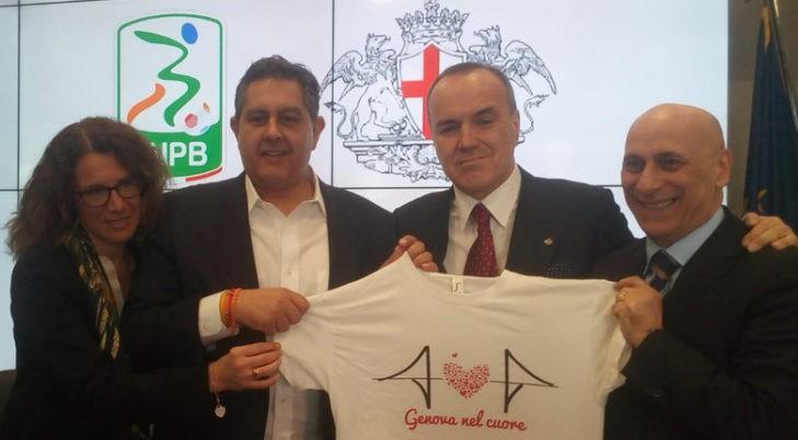 Il presidente Balata consegna 80.000 euro alla città di Genova