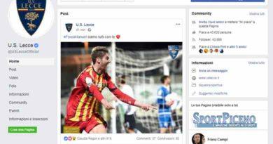 Lecce Ascoli: la vicinanza del club pugliese al proprio giocatore