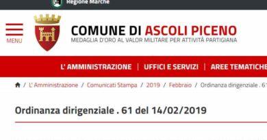Ordinanza Dirigenziale n. 61 del 14 febbraio 2019 VIABILITÀ' CITTADINA