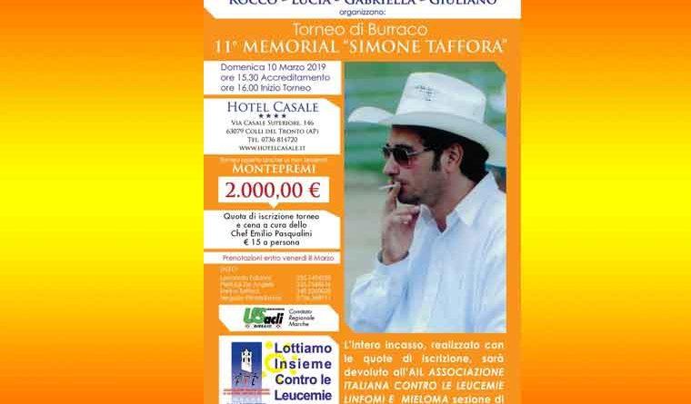 """Burraco e solidarietà: il 10 marzo l'undicesima edizione del torneo di burraco Memorial """"Simone Taffora"""""""