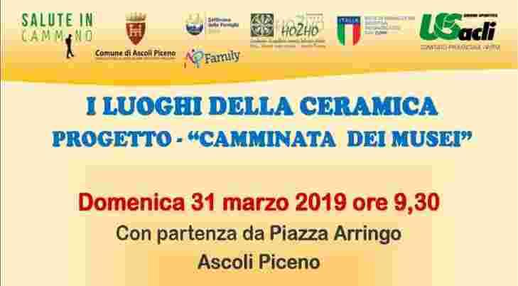 """Torna l'appuntamento con salute, cultura e sport: il 31 marzo """"Salute in cammino – I luoghi della ceramica"""""""