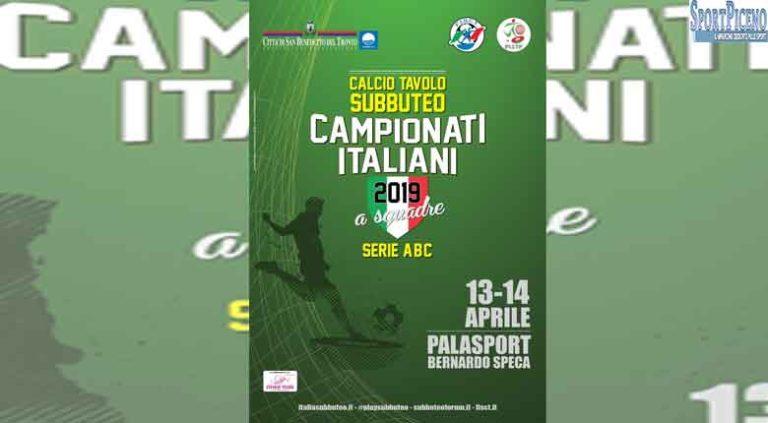 Campionati italiani a squadre di calcio tavolo: tutto pronto a San Benedetto
