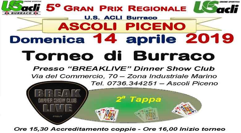 Domenica 14 aprile al Breaklive un torneo regionale di burraco