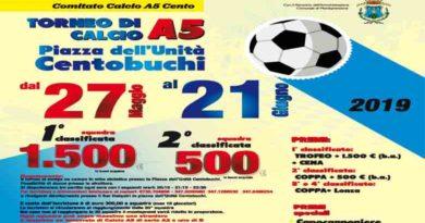 Il 27 maggio al via il Torneo di calcio a 5 a Centobuchi