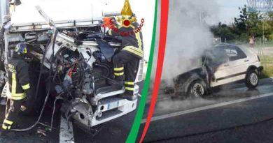 Incendio-autoveicolo-e-incidente-in-A14,-il-report-dei-vigili-del-fuoco