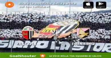 Ascoli Calcio 1898 Fc - U.S. Città di Palermo Live Score