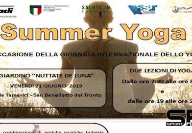 San Benedetto del Tronto festeggia la Giornata internazionale dello yoga  con due iniziative