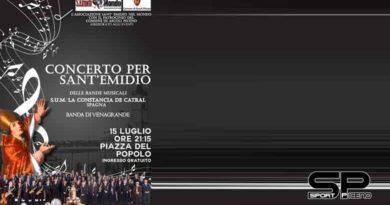 Le bande musicali di Ascoli e Catral in concerto nel nome di Sant'Emidio