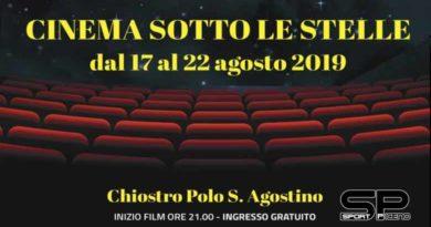 """""""Cinema sotto le stelle"""", domani sera al Chiostro Polo S. Agostino proiezione di """"Ready player one"""". Ingresso gratuito."""