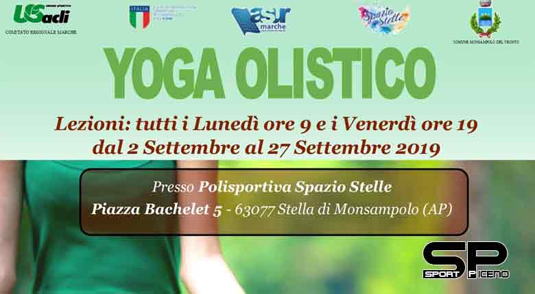 A settembre due lezioni settimanali di yoga a Stella di Monsampolo Riprendono le lezioni mattutine