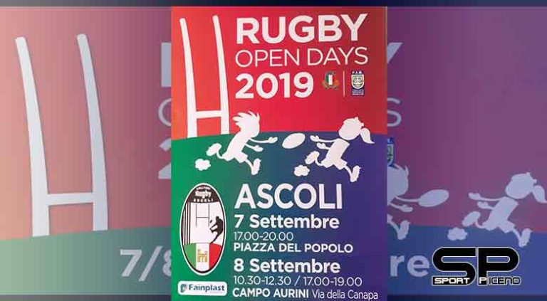 """Tutto pronto per """"Rugby Open Day 2019"""", sabato 7 e domenica 8 settembre 2019."""