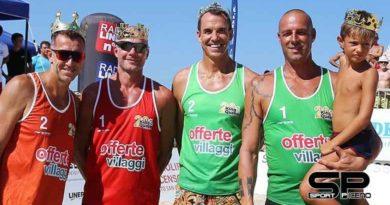 Alla IPLEX beach arena con i campioni del passato  Si è tornati al prima edizione con Heidger, Kjemperud, Raffaelli e Lione