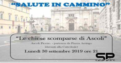 """""""Le chiese scomparse di Ascoli"""" Il 30 settembre una camminata per chiudere la Settimana europea dello sport"""