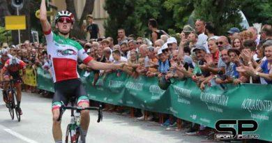 Il plauso della Federciclismo Marche a Gianmarco Garofoli in trionfo al Buffoni e in azzurro al Mondiale