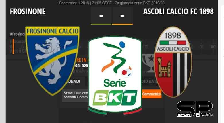 2a giornata serie BKT 2019/20 FROSINONE-ASCOLI CALCIO 1898 Live Score