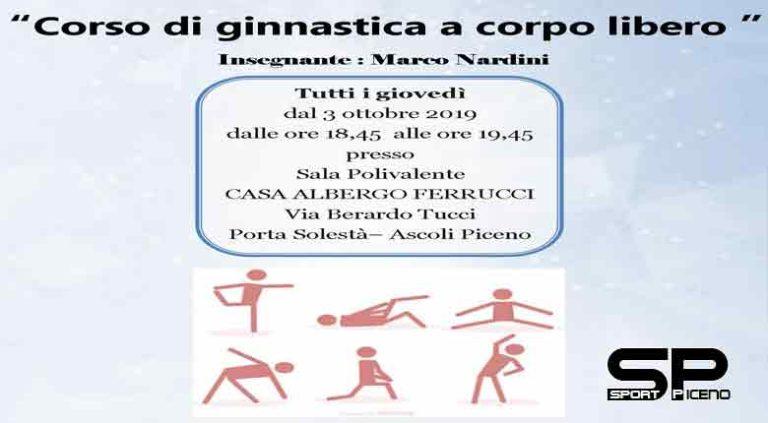 Dal 3 ottobre un corso gratuito di ginnastica a corpo libero