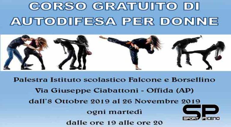 Dall' 8 ottobre a Offida un corso gratuito di autodifesa per donne