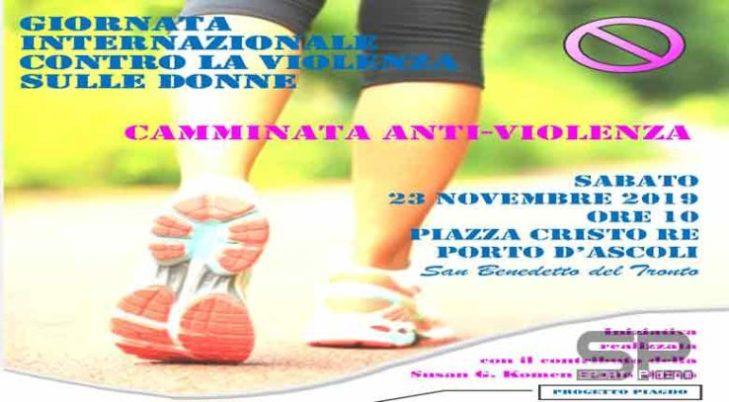 """Sabato 23 novembre la """"Camminata antiviolenza"""""""