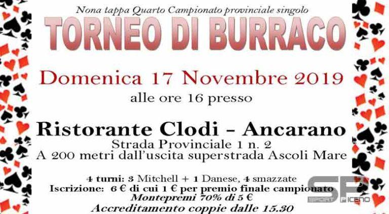 Domenica 17 novembre appuntamento col burraco ad Ancarano