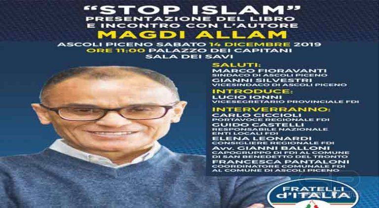 """""""Stop Islam"""", a Palazzo dei Capitani la presentazione del libro di Magdi Allam"""