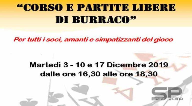 Anche a dicembre corsi e partite libere di burraco ad Ascoli  Prossimo appuntamento il 3 dicembre