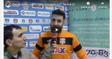 La Futsal ASKL super  il Città di Castello Grafica C5  per 6-0  INTERVISTE