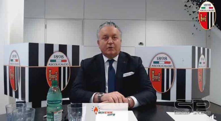 """Patron Pulcinelli: """"Non ho intenzione di vendere l'Ascoli Calcio""""."""