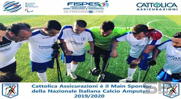 Cattolica Assicurazioni sponsor della Nazionale Italiana Calcio Amputati per il secondo anno consecutivo