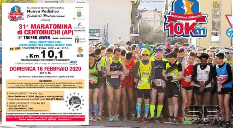 Centobuchi, tutti di corsa il 16 febbraio con la 31°edizione della Maratonina podistica
