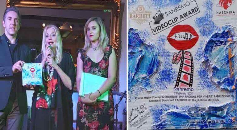 """Sanremo Videoclip Award  Fabrizio Nitti  con il video """"Una Ragione per Vivere""""  vince il Premio come Miglior Concept&Storyboard"""