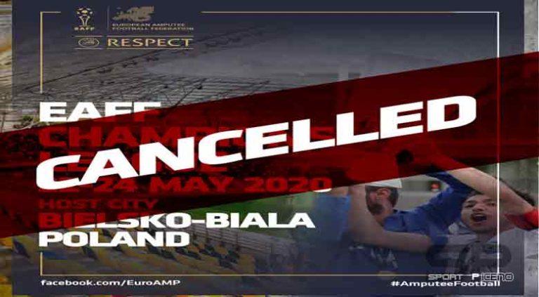 Gli eventi internazionali cancellati o rinviati per Atletica paralimpica e Calcio amputati