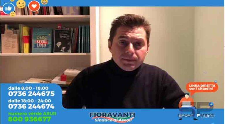 Marco Fioravanti, Sindaco di Ascoli Piceno, Aggiornamento emergenza #coronavirus