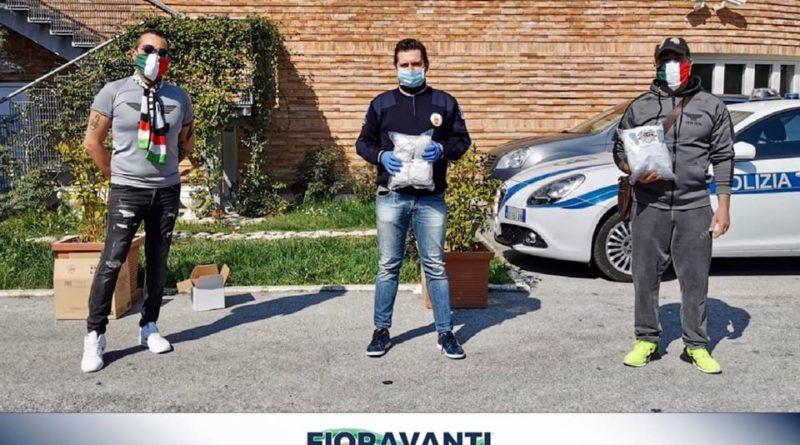 il Settembre Bianconero ha consegnato al Sindaco Marco Fioravanti 200 mascherine protettive