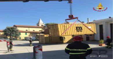 Vigili del fuoco – Mobilitazione container per aiuti alla popolazione